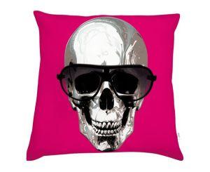 coussin skull rose