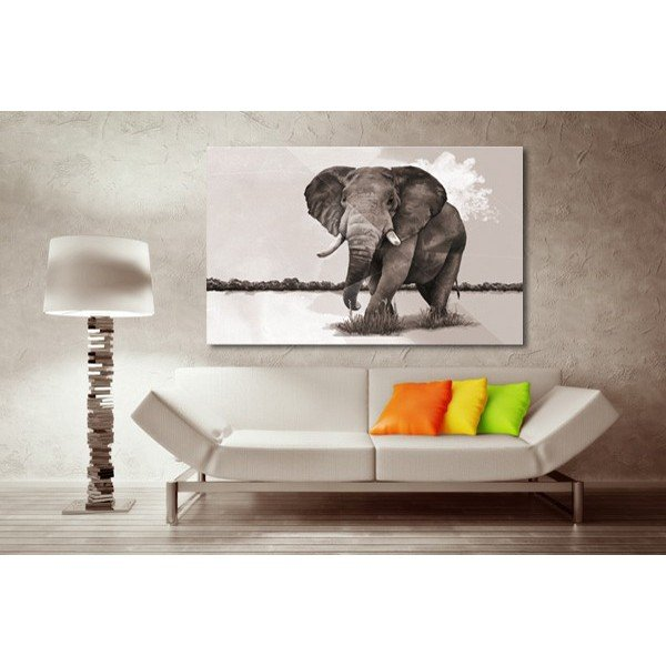 tableau-decoration-elephants-savane